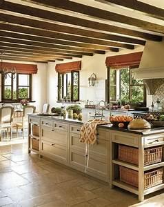 la poutre en bois dans 50 photos magnifiques With meuble cuisine couleur taupe 4 la cuisine en u avec bar voyez les derniares tendances