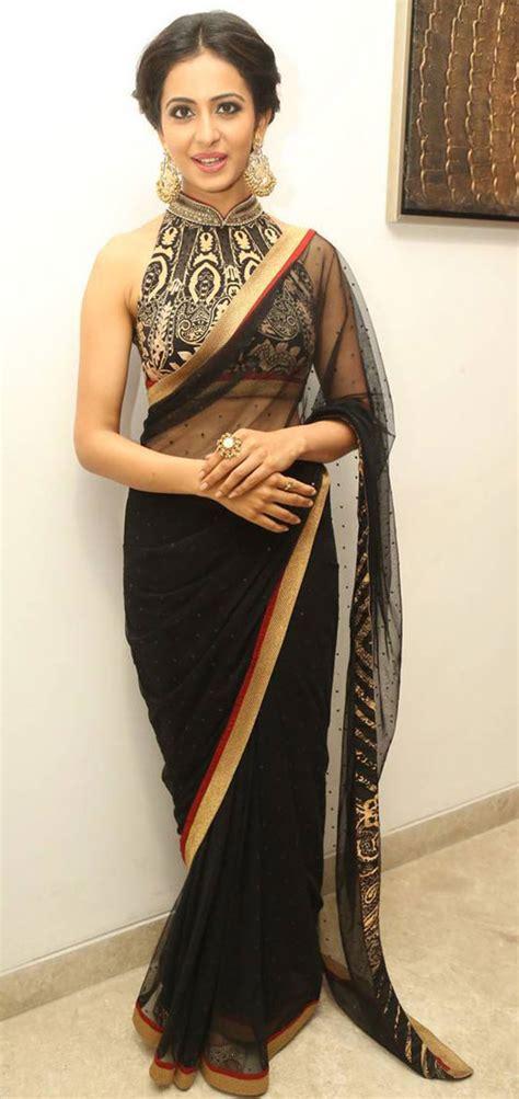 black saree blouse 20 beautiful black saree blouse designs