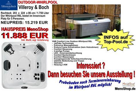 whirlpool garten villeroy und boch outdoor whirlpools villeroy boch spa g 252 nstig kaufen