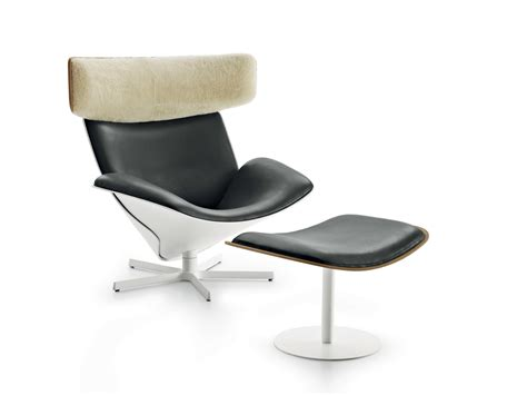 Swivel Armchair With 5-spoke Base With Headrest Almora By