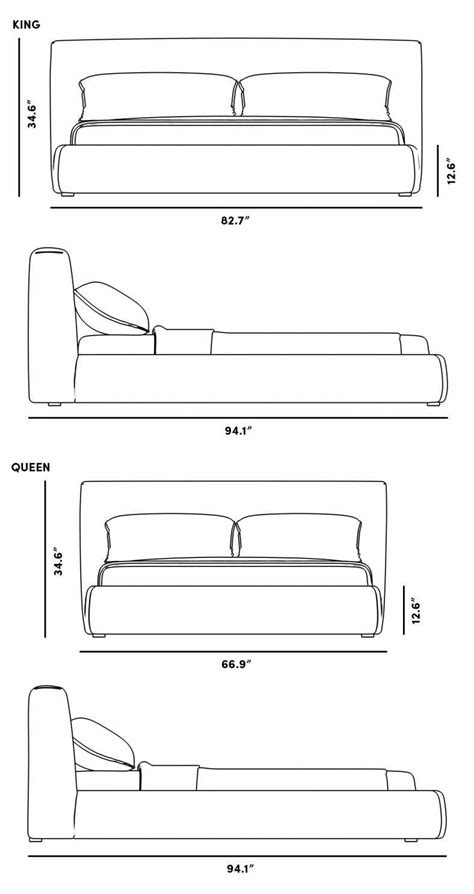 ophelia bed furniture design sketches drawing furniture