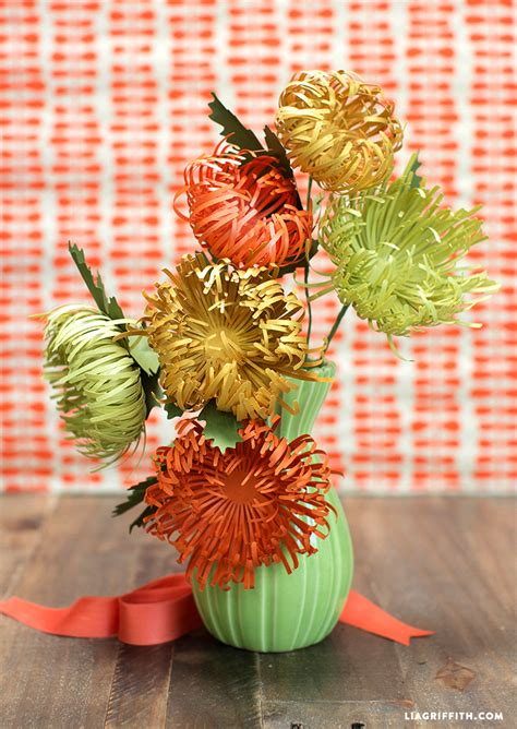 paper spider mums  fall lia griffith