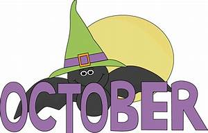 Month of October Halloween Bat Clip Art - Month of October ...