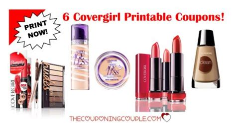 covergirl printable coupons 6 covergirl printable awesome savings print now 21215 | 6covergirlcoupons72918 500x262