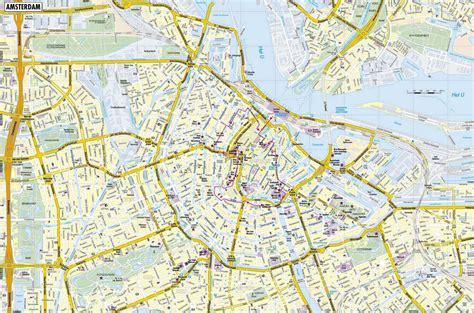 large amsterdam maps     print high