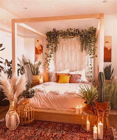 Bedroom Bohemian Boho Tropical Aesthetic Ivy Interior