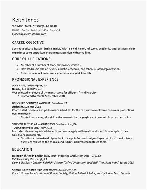 graduated  honors  resume