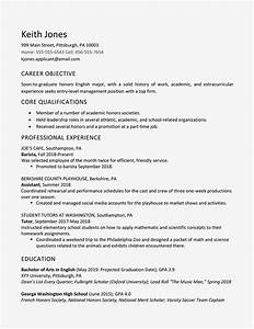 Job Resume For Fresh Graduate High School