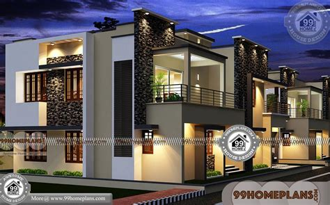 modern long house plans  floored  rectangular