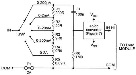 Five Range Current Meter Converter For Use With Dvm
