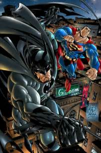 Superman and Batman Comic Art