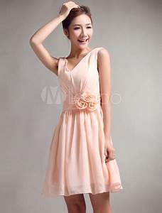 robe soutenue demoiselle d39honneur a ligne rose de peche With robe demoiselle d honneur peche