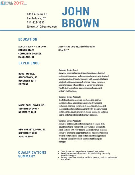 try these powerful customer service resume sles 2016