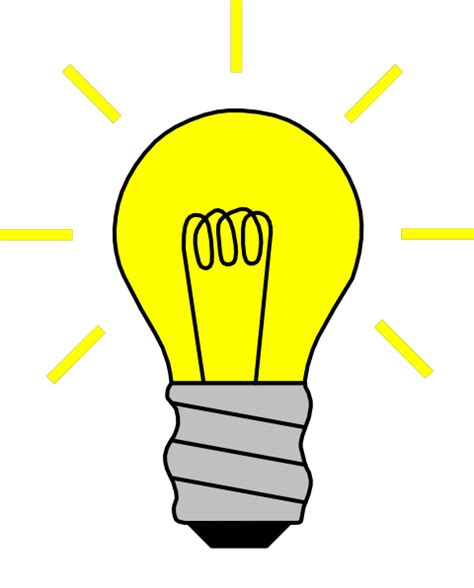 Light Bulb Clipart Light Bulb On Clip At Clker Vector Clip
