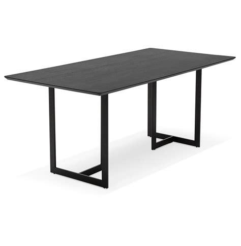 bureau bois noir table design titus en bois noir bureau moderne 180x90 cm
