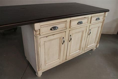 hand crafted white kitchen island  reclaimed barn wood