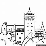 Castle Coloring Romania Bran Famous Dracula Places Pages Thecolor Landmarks Colouring Transylvania Flag Castles Sheets sketch template
