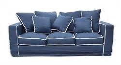 Blue Sofa White Piping by 1000 Images About Lm Family Room On Stripes