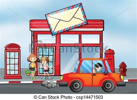 bureau poste canada clipart vecteur de devant voiture poste bureau orange