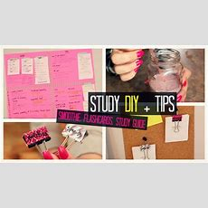 Study Tips Diy  Brain Smoothie; Wall Study Guide; Flashcard Organizer + Exam Tips Laurie