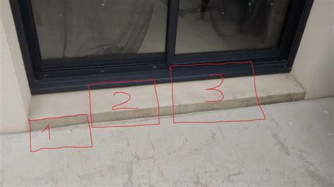 carrelage seuil de porte exterieur terrasse en dalles sur plots seuil de baie vitr 233 e 23