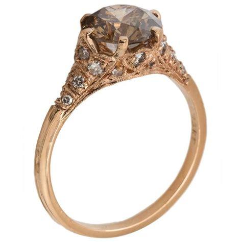 Stunning Cognac Diamond Rose Gold Pave Diamond Ring For. Single Square Diamond Rings. Gunmetal Gray Wedding Rings. Edit Rings. Setting Vintage Engagement Rings. 24k Gold Wedding Rings. Forevermark Wedding Rings. Cat's Rings. Jacqueline Kennedy's Wedding Rings