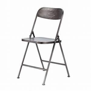 Chaise Pliante Noire : chaise pliante noire edison maisons du monde ~ Teatrodelosmanantiales.com Idées de Décoration