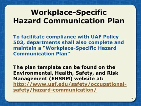 Communication Requirements Analysis Template by Cal Osha Hazard Communication Program Template Templates