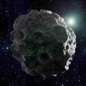 Asteroid, Artwork Digital Art by Andrzej Wojcicki