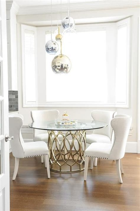 31466 glass top for dining table gorgeous gorgeous dining room features staggered brass glass and