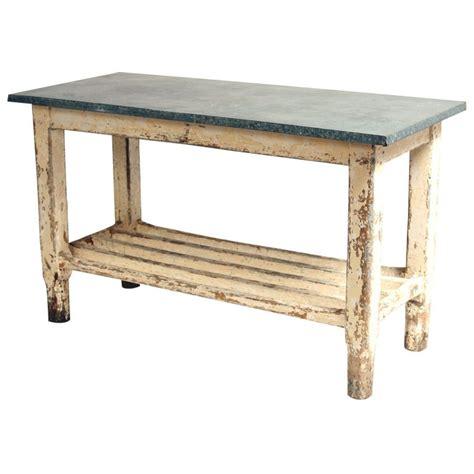kitchen work tables islands vintage galvanized work table kitchen island at 1stdibs