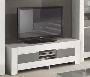 Meuble TV Gris Et Blanc Laqu Italien Qualit Haut De Gamme