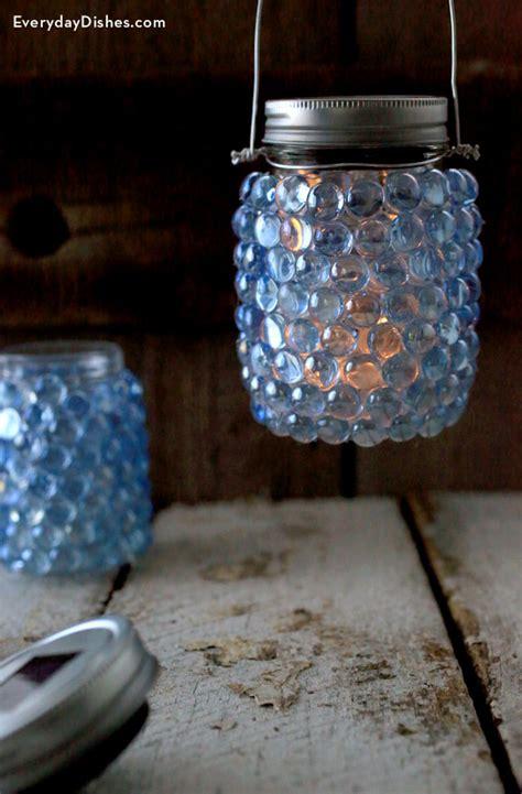diy glass pebble lantern