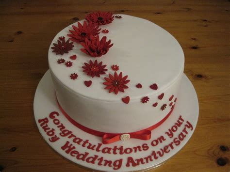 40th wedding anniversary cake decorations 2 ruby 40th wedding anniversary cake cake ideas 1118