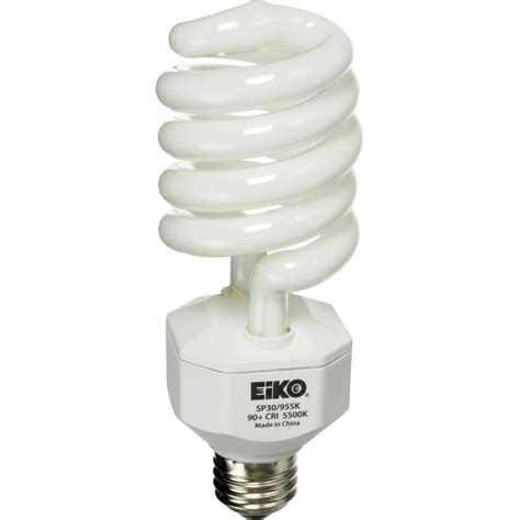 Self Ballasted Lamp Bulb by Eiko Spiral Fluorescent Lamp 30w 120v Sp30955 B Amp H Photo