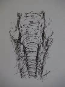 Elephant Pen Sketch