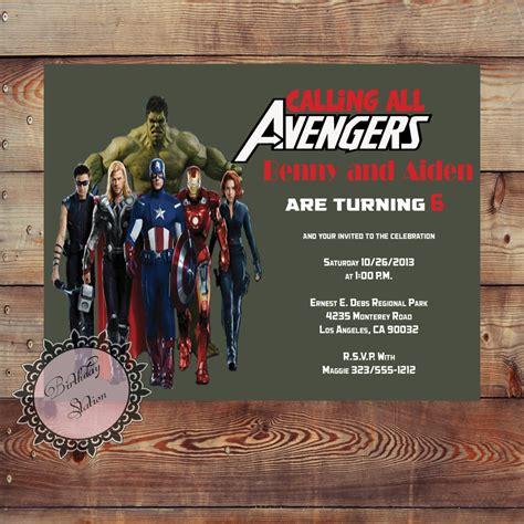 avengers birthday invitation printable  birthdaystation