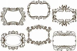 6 Kind floral frame vector - Vector Frames & Borders free ...