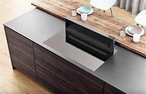 design hotte dans meuble moteur deporte cuisine design With hotte plan de travail moteur deporte