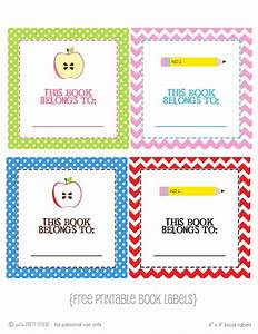 6 best images of free printable book labels school book With free school labels template