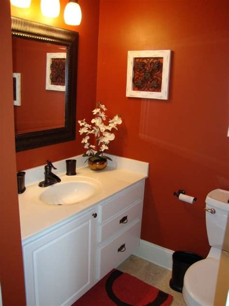 Ideas For An Orange Bathroom by Paint Color Paprika By Valspar Bathrooms Bathroom