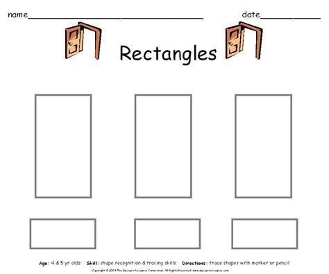 preschool rectangle activities preschool printables worksheets 675