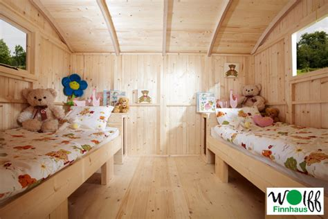 Kinder Spielhaus Wolff «camping Bauwagen» Holz Stelzen