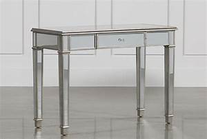 Hayworth Mirrored Vanity Desk - Living Spaces