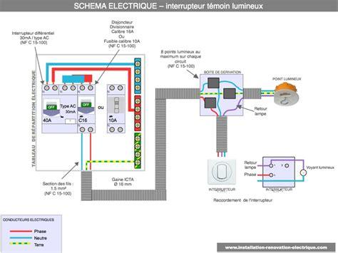 branchement d un interrupteur avec voyant ou t 233 moin lumineux