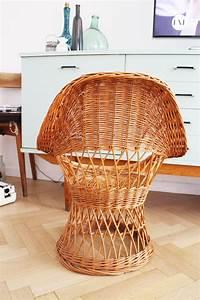 Fauteuil Vintage Pas Cher : fauteuil en osier vintage pas cher luckyfind ~ Teatrodelosmanantiales.com Idées de Décoration