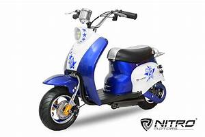 Scooter Roller Elektro : nitro elektro roller 24 volt 500 watt retro design ~ Jslefanu.com Haus und Dekorationen