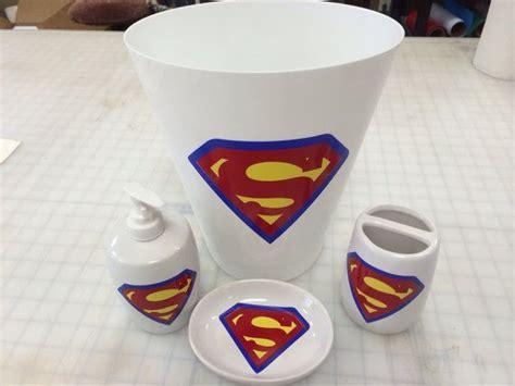 White Superman Bathroom Accessories Set On Etsy, .00