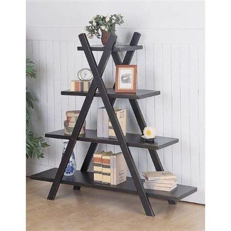 A Frame Bookcase by Black Finish X Frame Slant Book Shelf