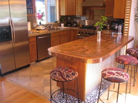 copper top kitchen island fantasizing about covering the top of a kitchen island in 5805